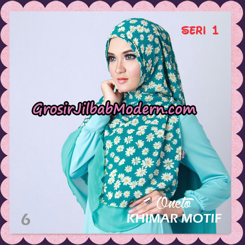 Jilbab Khimar Motif Non Pet Seri 1 Support By Oneto Hijab No 6