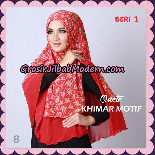 Jilbab Khimar Motif Non Pet Seri 1 Support By Oneto Hijab No 8