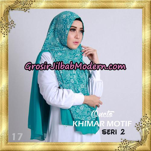 Jilbab Khimar Motif Non Pet Seri 2 Support By Oneto Hijab No 17