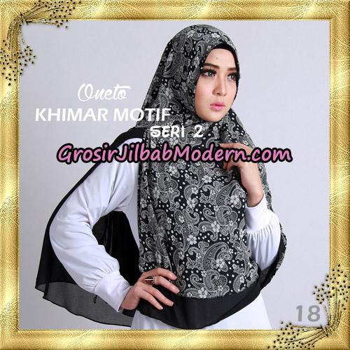 Jilbab Khimar Motif Non Pet Seri 2 Support By Oneto Hijab No 18