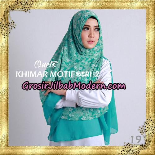 Jilbab Khimar Motif Non Pet Seri 2 Support By Oneto Hijab No 19