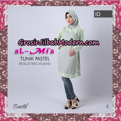 Jilbab Lengan Tunik Pastel Original By Almia ( Al-Mi'a Brand ) No 4