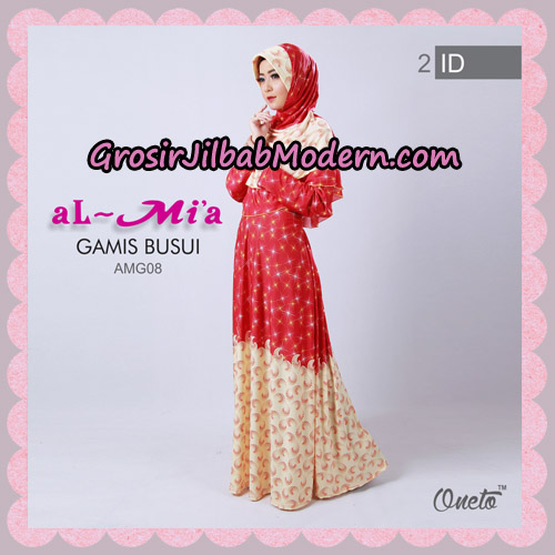 Setelan Gamis Busui Motif Kembang Api AMG08 Original By Almia ( Al-Mi'a Brand ) No 2