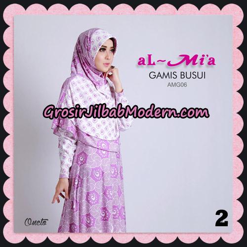Stelan Gamis Busui AMG06 Cantik Original By Almia ( Al-Mi'a Brand ) No 2