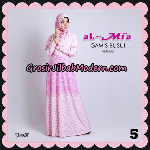 Stelan Gamis Busui AMG06 Cantik Original By Almia ( Al-Mi'a Brand ) No 5