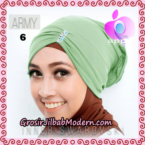 Inner Swarovski Cantik Original By Apple Hijab Brand No 6