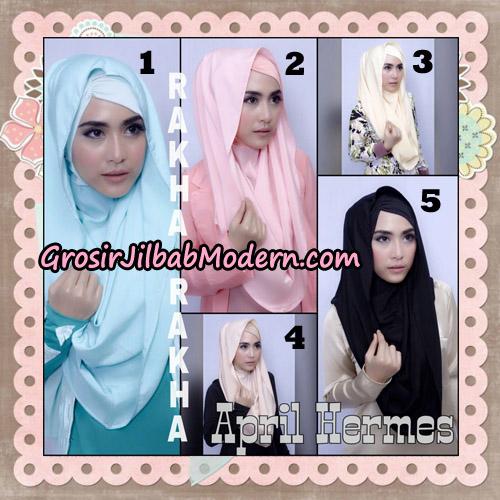 Jilbab Hoodie Instant April Hermes By Rakha Brand