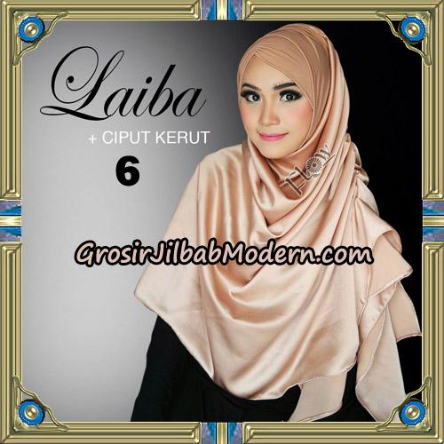 Jilbab Instant Silk Syria Laiba Original By Flow Idea No 6
