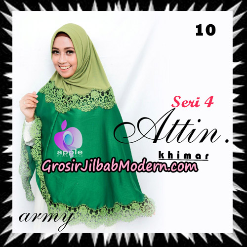 Jilbab Khimar Attin Seri 4 Original By Apple Hijab Brand No 10 Army