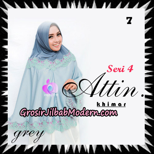 Jilbab Khimar Attin Seri 4 Original By Apple Hijab Brand No 7 Grey