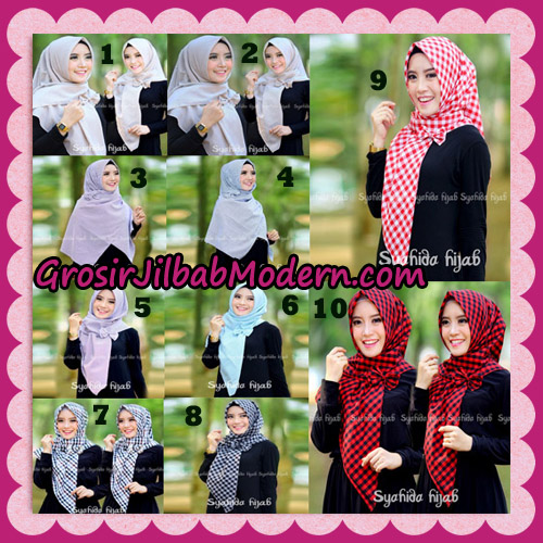 Jilbab Segi 4 Monochrome Original By Syahida Hijab Brand