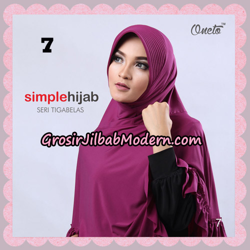 Jilbab Bergo Instant Simple Hijab Seri 13 By Firza Hijab Support Oneto No 7