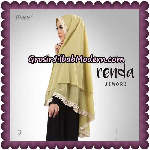 Jilbab Khimar Cerutti Jiwori Renda Original By Dhea Brand No 3
