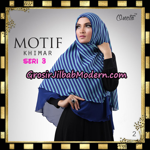 Jilbab Khimar Motif Non Pet Seri 3 Support By Oneto Hijab No 2