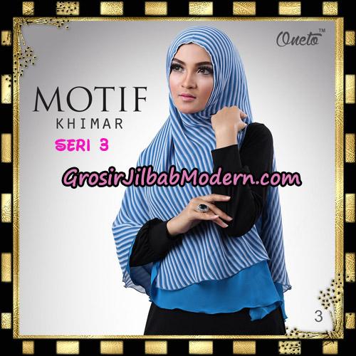 Jilbab Khimar Motif Non Pet Seri 3 Support By Oneto Hijab No 3