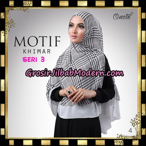 Jilbab Khimar Motif Non Pet Seri 3 Support By Oneto Hijab No 4