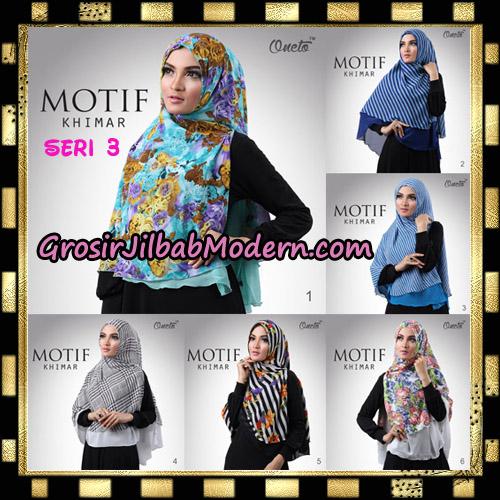 Jilbab Khimar Motif Non Pet Seri 3 Support By Oneto Hijab