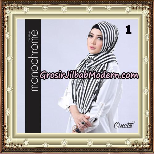 Pashmina Premium H&S Monochrome By Umama Scarf Support Oneto Hijab No 1