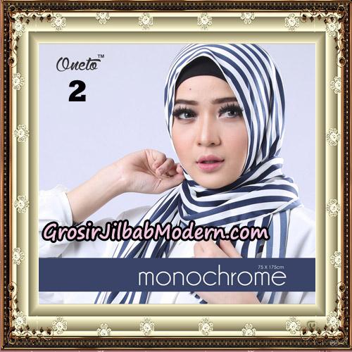 Pashmina Premium H&S Monochrome By Umama Scarf Support Oneto Hijab No 2