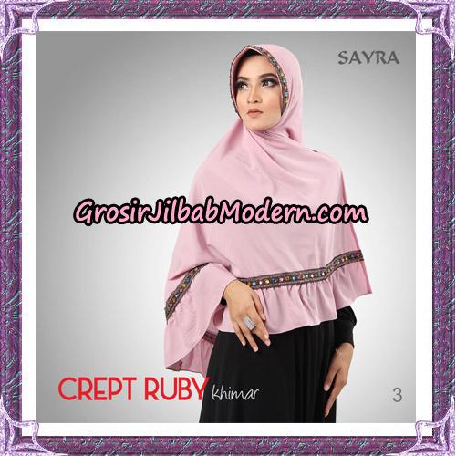 Jilbab Khimar Crept Ruby Cantik Original By Sayra Hijab Brand NO 3