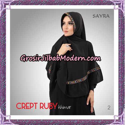 Jilbab Khimar Crept Ruby Cantik Original By Sayra Hijab Brand No 2