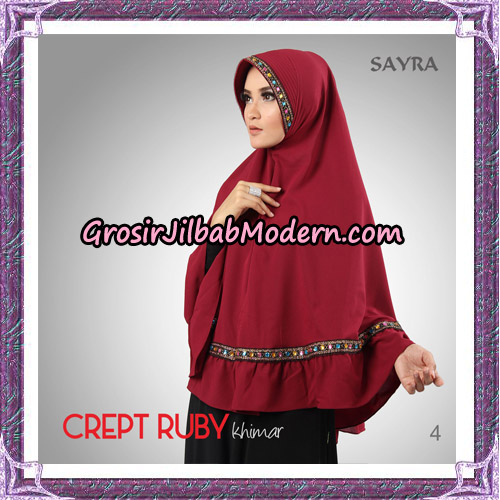 Jilbab Khimar Crept Ruby Cantik Original By Sayra Hijab Brand No 4