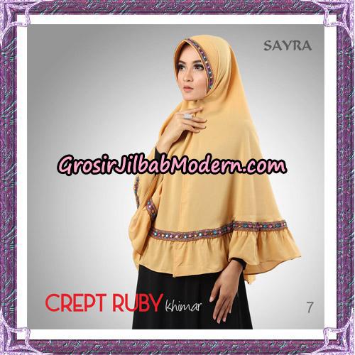 Jilbab Khimar Crept Ruby Cantik Original By Sayra Hijab Brand No 7