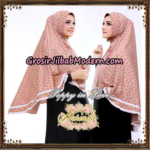 Jilbab Long Syria Poppy Love Original By Narinda Hijab-Detail