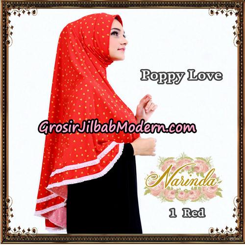 Jilbab Long Syria Poppy Love Original By Narinda Hijab No 1