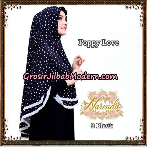 Jilbab Long Syria Poppy Love Original By Narinda Hijab No 3