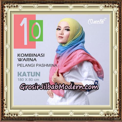 Pashmina Kombinasi Warna Pelangi Support Oneto Hijab - On Model