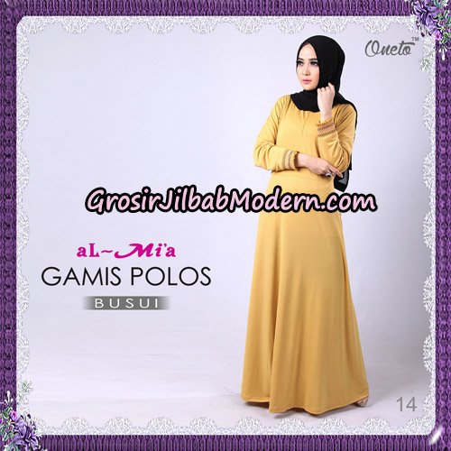 Gamis Polos Busui Cantik Original By Almia Brand No 14