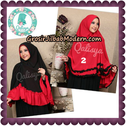 Jilbab Ceruti Bolak Balik Dua Warna Khimar Davinah Original By Qalisya Hijab No 2