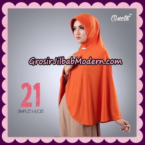 Jilbab Instant Bergo Simple Hijab Seri 21 By Firza Hijab Support Oneto No 7