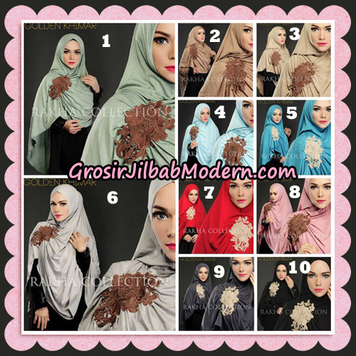 Jilbab Instant Golden Khimar Original By Rakha Hijab Brand