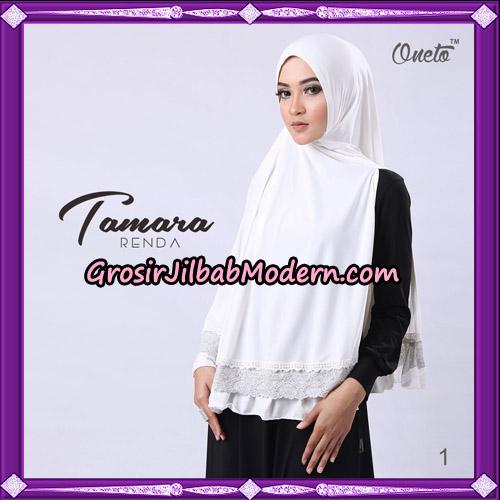 Jilbab Khimar Syari Tamara Renda Support Oneto Hijab No 1