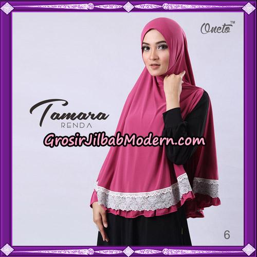 Jilbab Khimar Syari Tamara Renda Support Oneto Hijab No 6