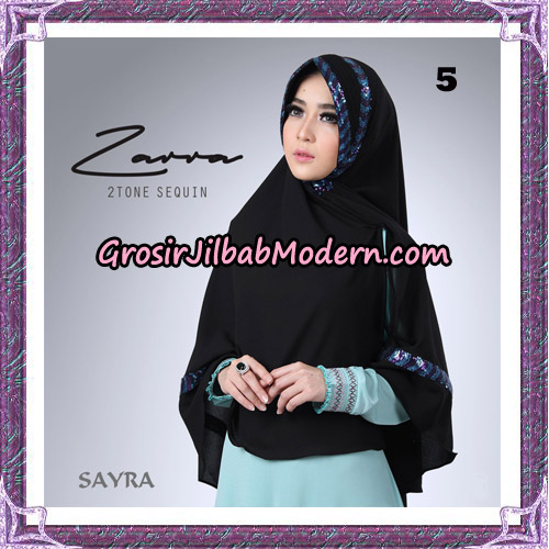 Jilbab Khimar Zarra 2Tone Sequin Original By Sayra Hijab Brand No 5