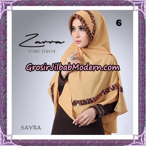 Jilbab Khimar Zarra 2Tone Sequin Original By Sayra Hijab Brand No 6