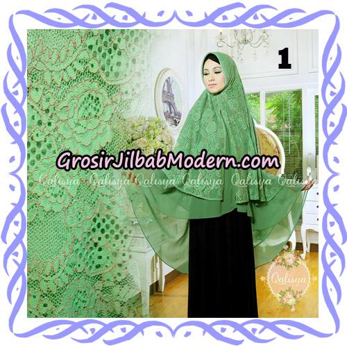 Jilbab Syari Modern Khimar Halwa Brukat Seri 4 Original by Qalisya Hijab Brand No 1