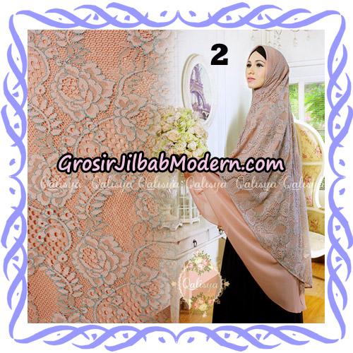 Jilbab Syari Modern Khimar Halwa Brukat Seri 4 Original by Qalisya Hijab Brand No 2
