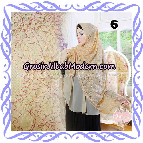 Jilbab Syari Modern Khimar Halwa Brukat Seri 4 Original by Qalisya Hijab Brand No 6