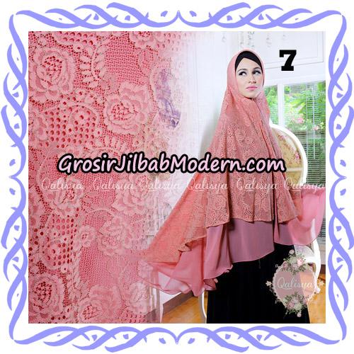 Jilbab Syari Modern Khimar Halwa Brukat Seri 4 Original by Qalisya Hijab Brand No 7