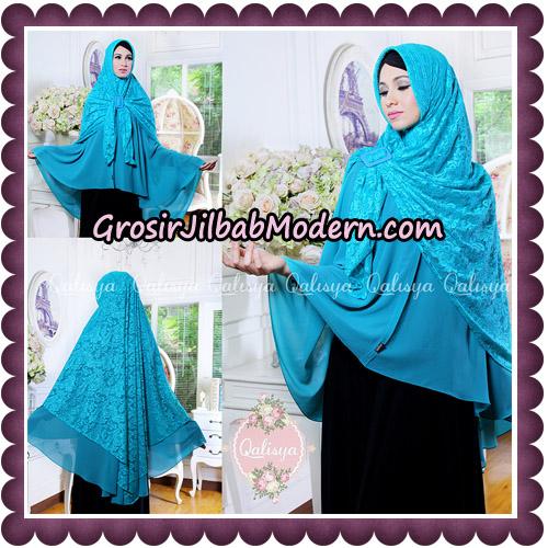Jilbab Syari Modern Khimar Halwa Brukat Seri 5 Glitter Original by Qalisya Hijab Brand - Detail