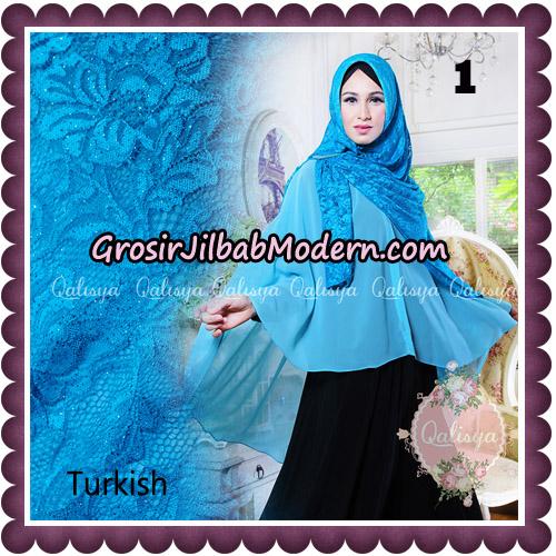 Jilbab Syari Modern Khimar Halwa Brukat Seri 5 Glitter Original by Qalisya Hijab Brand No 1