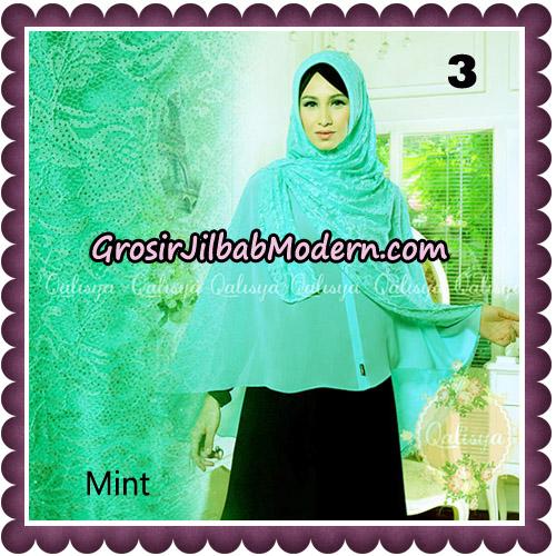 Jilbab Syari Modern Khimar Halwa Brukat Seri 5 Glitter Original by Qalisya Hijab Brand No 3