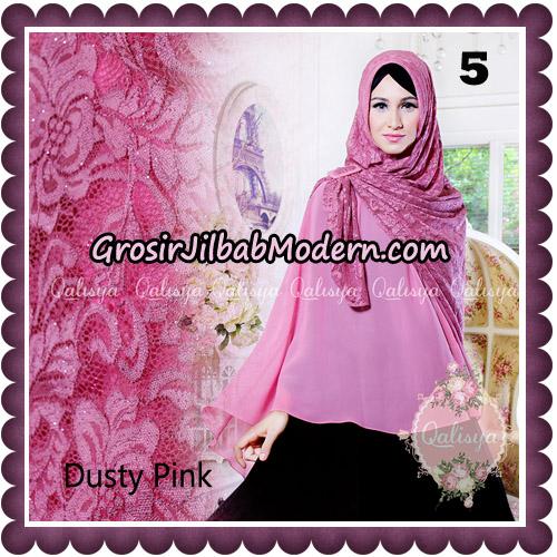 Jilbab Syari Modern Khimar Halwa Brukat Seri 5 Glitter Original by Qalisya Hijab Brand No 5
