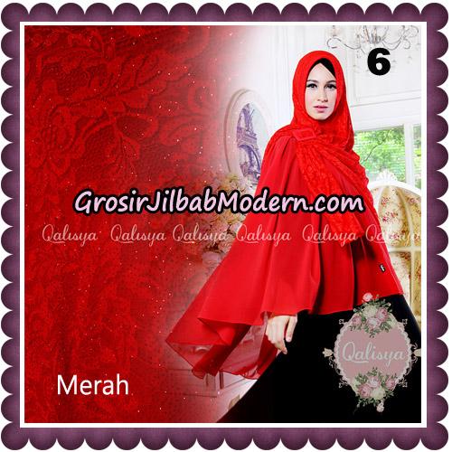 Jilbab Syari Modern Khimar Halwa Brukat Seri 5 Glitter Original by Qalisya Hijab Brand No 6