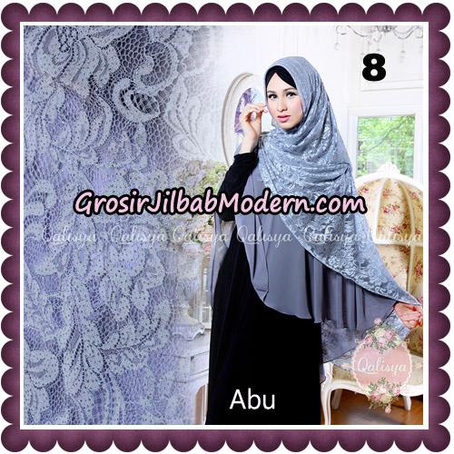 Jilbab Syari Modern Khimar Halwa Brukat Seri 5 Glitter Original by Qalisya Hijab Brand No 8