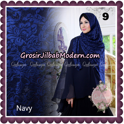 Jilbab Syari Modern Khimar Halwa Brukat Seri 5 Glitter Original by Qalisya Hijab Brand No 9